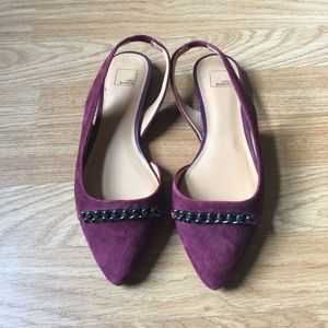 14th & Union Genuine Suede Flat Shoes